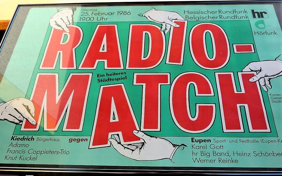 Radio Match, Hessischer Rundfunk/Belgischer Rundfunk, 25. Februar 1986, Foto: Knut Kuckel
