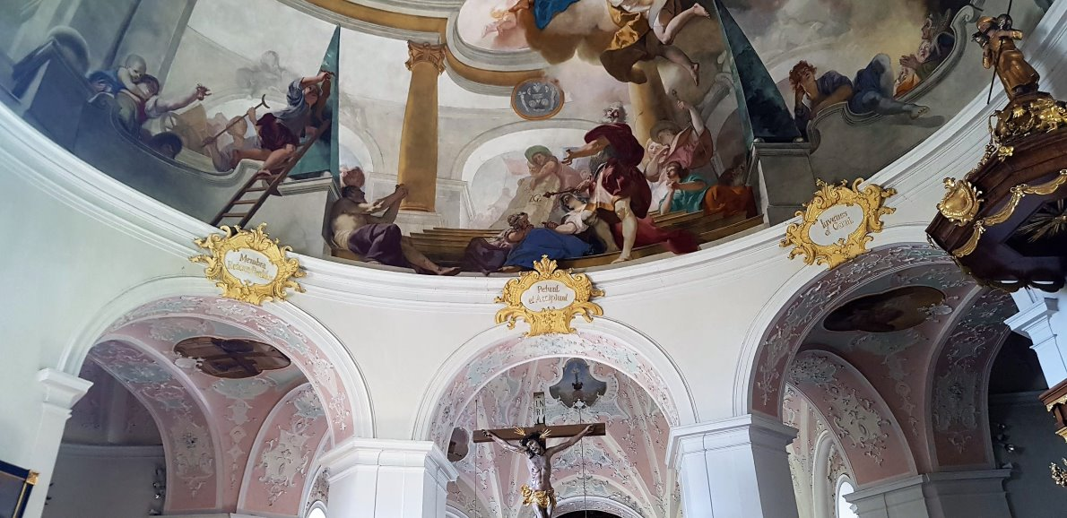 Kuppelfresko von Johannes Evangelist Holzer. (Foto: Knut Kuckel)