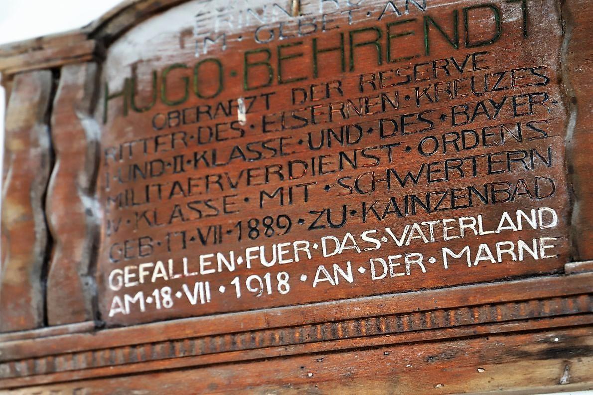 Gefallen für das Vaterland - 1918 An der Marne. Foto: Knut Kuckel